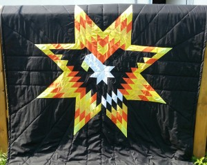 1. Black Blanket with Eagle and Yellow and Orange Star