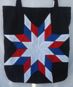 28. Black bag with red, white and blue star