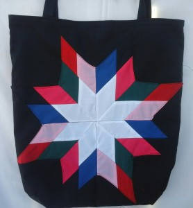 27. Black Bag with white center and Multiple colors for outside.