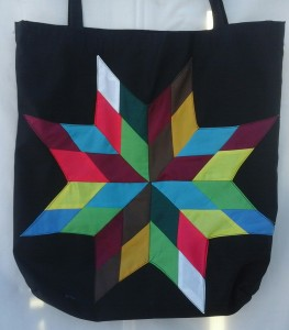 14. Black bag with rainbow star