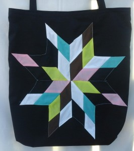 10. black bag with rainbow star