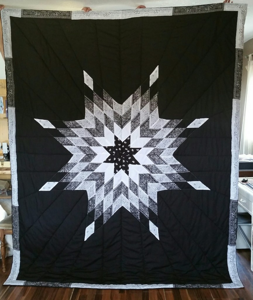 Created this unique Bandana Cloth King-Size Star Blanket for a client