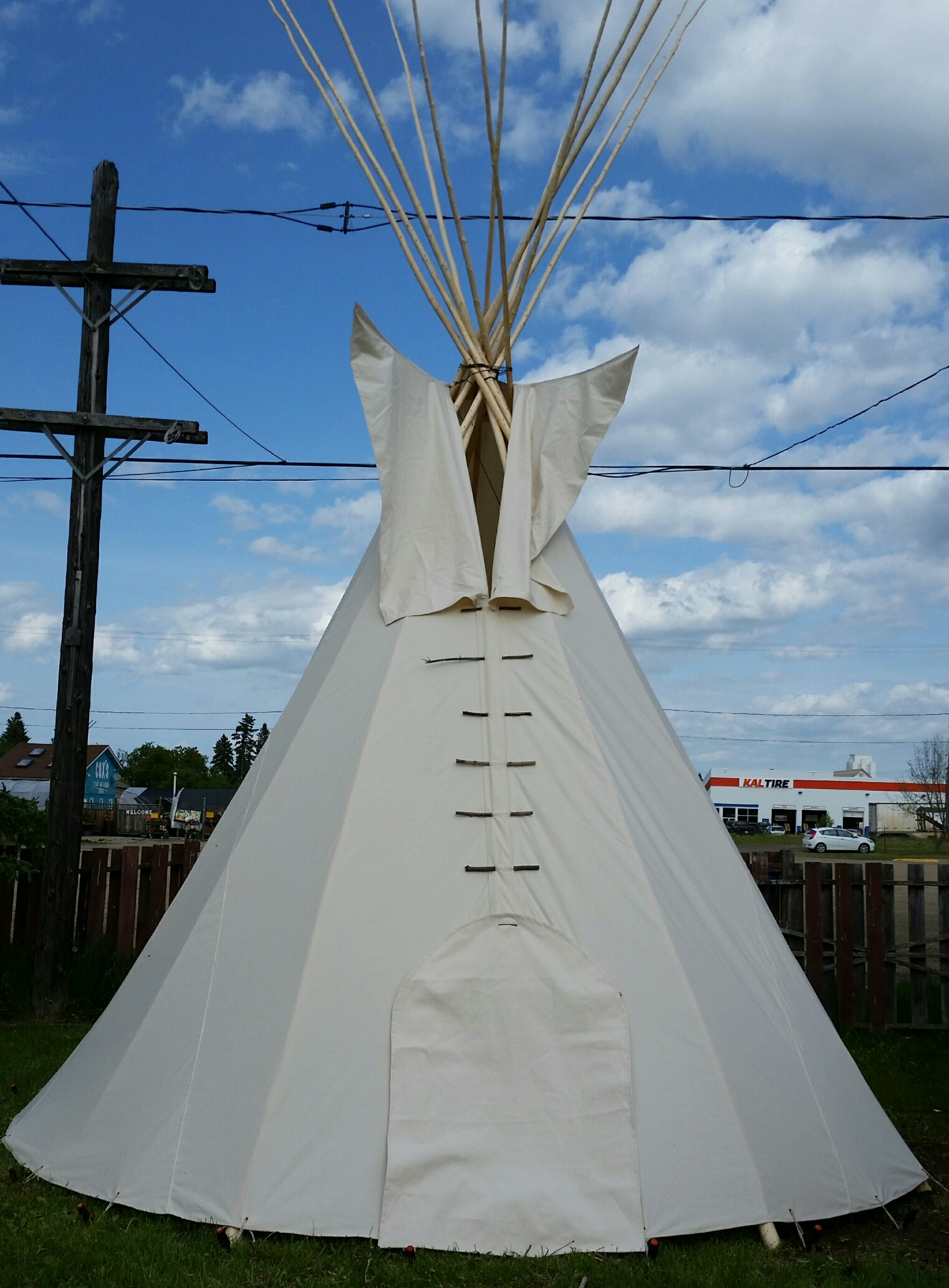Front-View of Teepee with Door