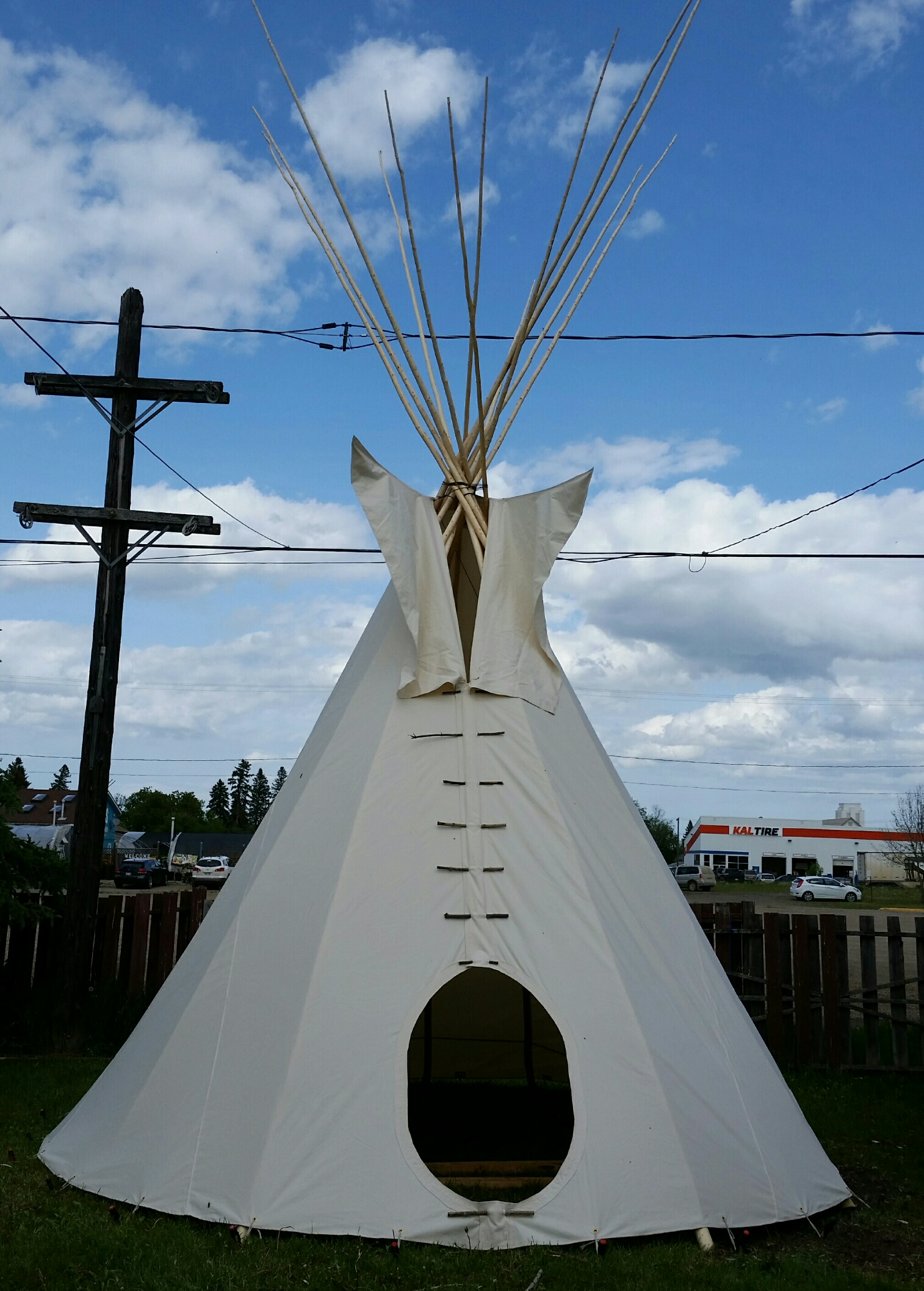 Front View of Tepee Without Door