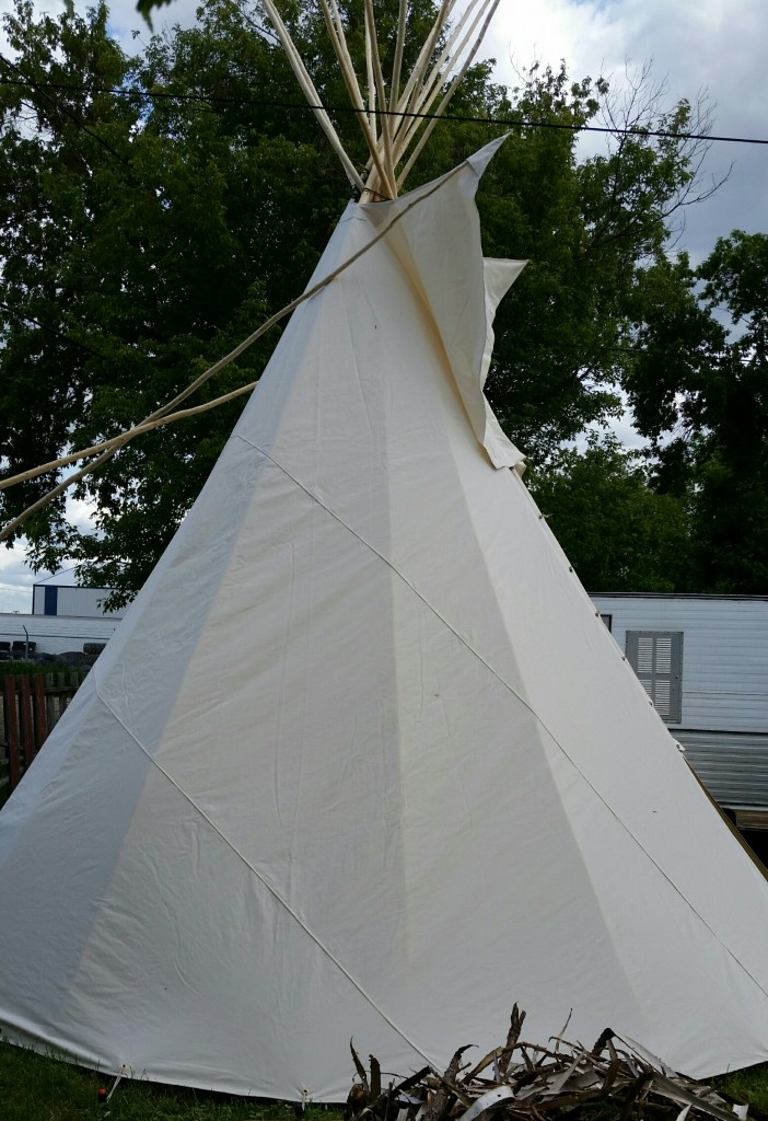 Side view of Teepee