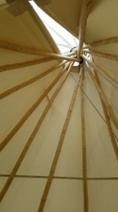 Inside view of Teepee-top