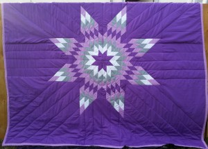 Purple Blanket with Purple, White and Grey Star