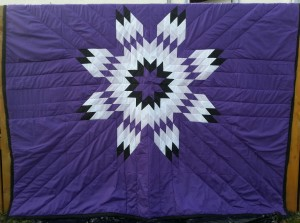 Purple Blanket with Purple, White and Black Star