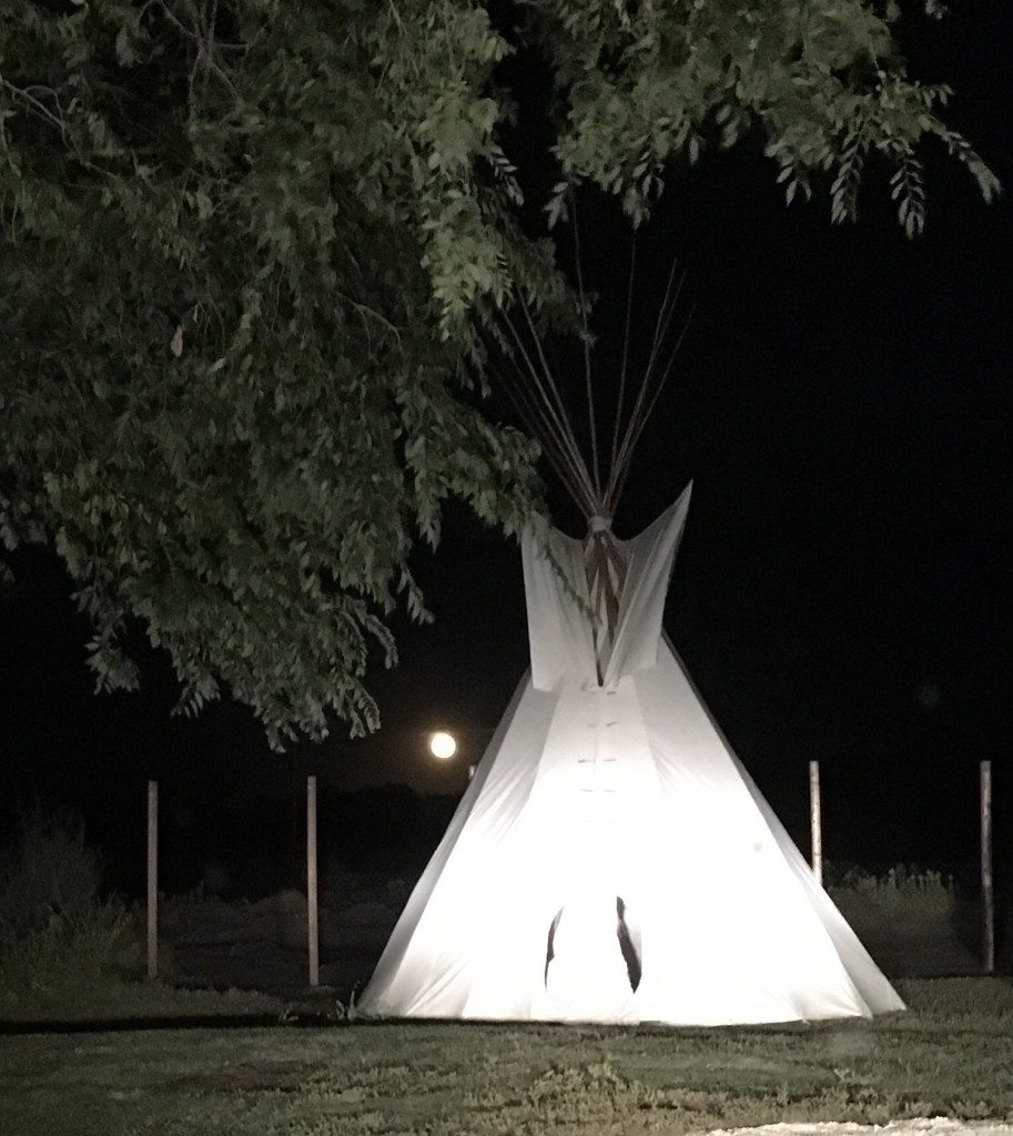 Janet Longclaws from Long Plains First Nation, Manitoba purchased this 16-Foot Dakota Style Teepee from us.
