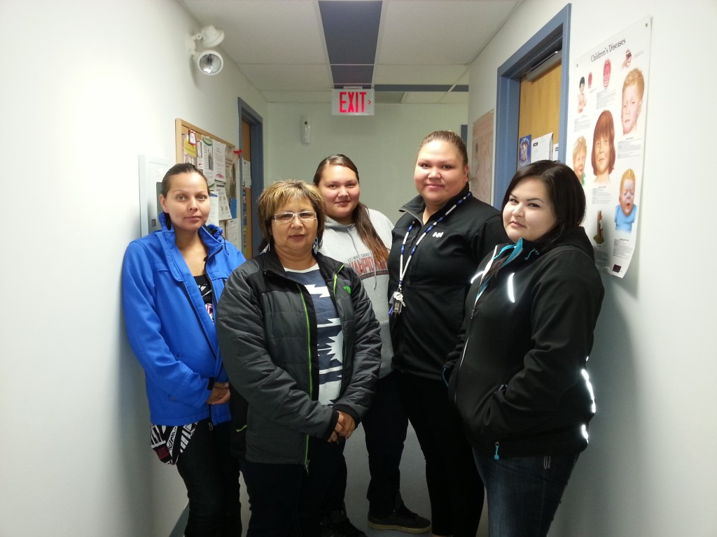 Marion Badger with Cote Health Department Staff.