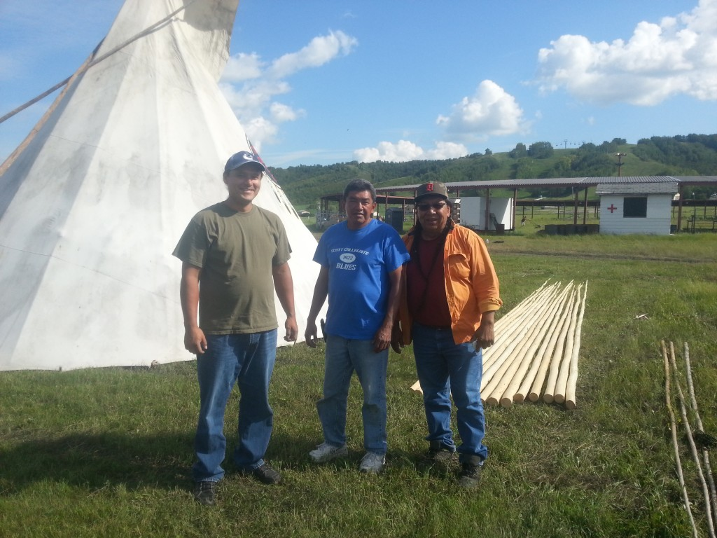 Photo: (left to right) John (owner/manager of Cree Star Gifts), Roland Kaye (Elders Helper - First Nations University in Regina), and Rick Favel (Traditional Knowledge Keeper)