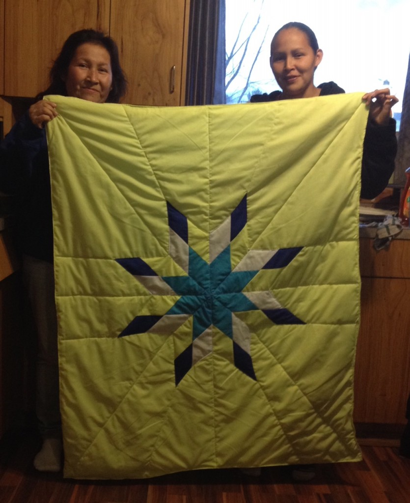 Holding Baby Star Blanket purchased from Cree Star Gifts.