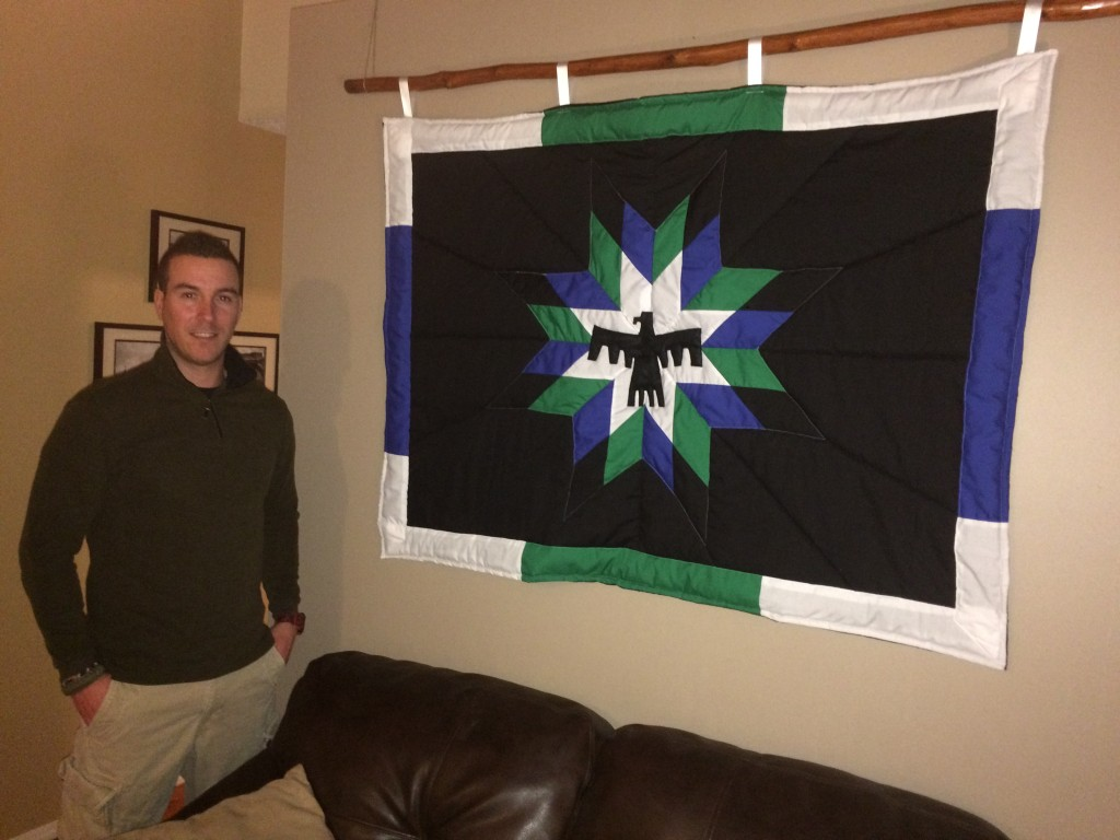 Custom Blanket created as a Wall Hanging, with Thunderbird Motif - 2017.