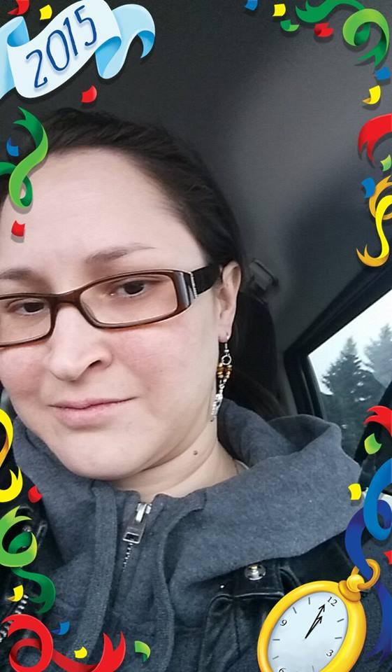 Bonnie Stevens wearing Beaded Earrings made by Cree Star Gifts