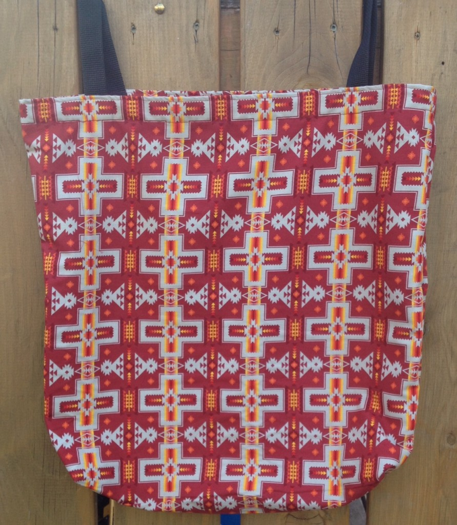 2. Red Bag with Red Cross Print